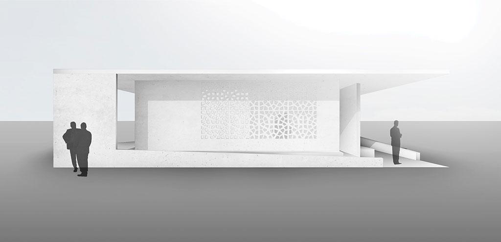 """ansicht der konzeption eines interieur design für ein gästehauses, eines ortes """"des zusammenseins""""."""