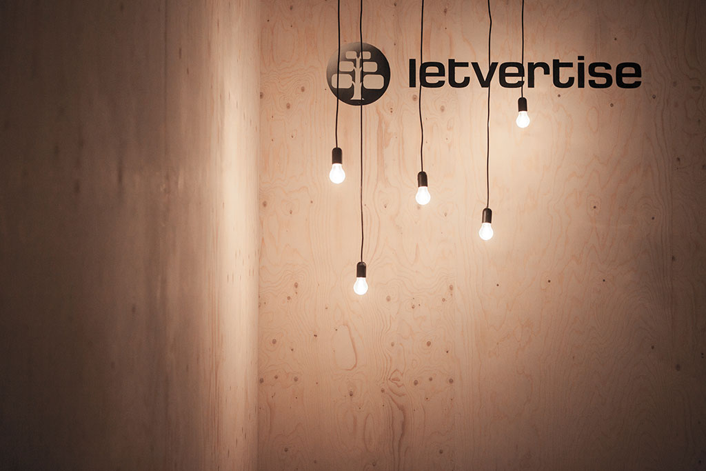 concept, exhibition design and conversion temporary architecture for letvetise gmbh