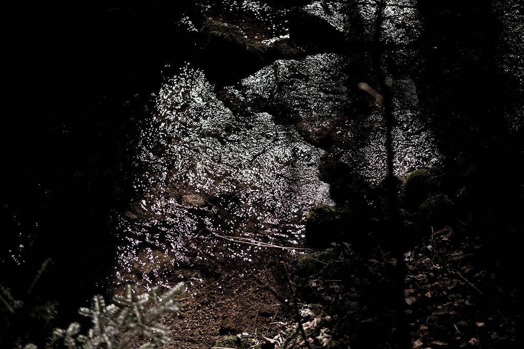 das licht und schatten spiel verleiht dem raum seine natürliche stimmungsvolle atmosphäre - fokussiert aufmerksamkeit und konzentration
