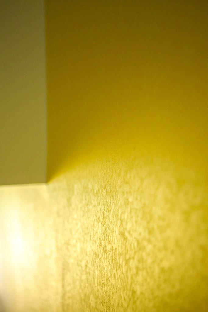 gelbe raumgrafik handzeichnung