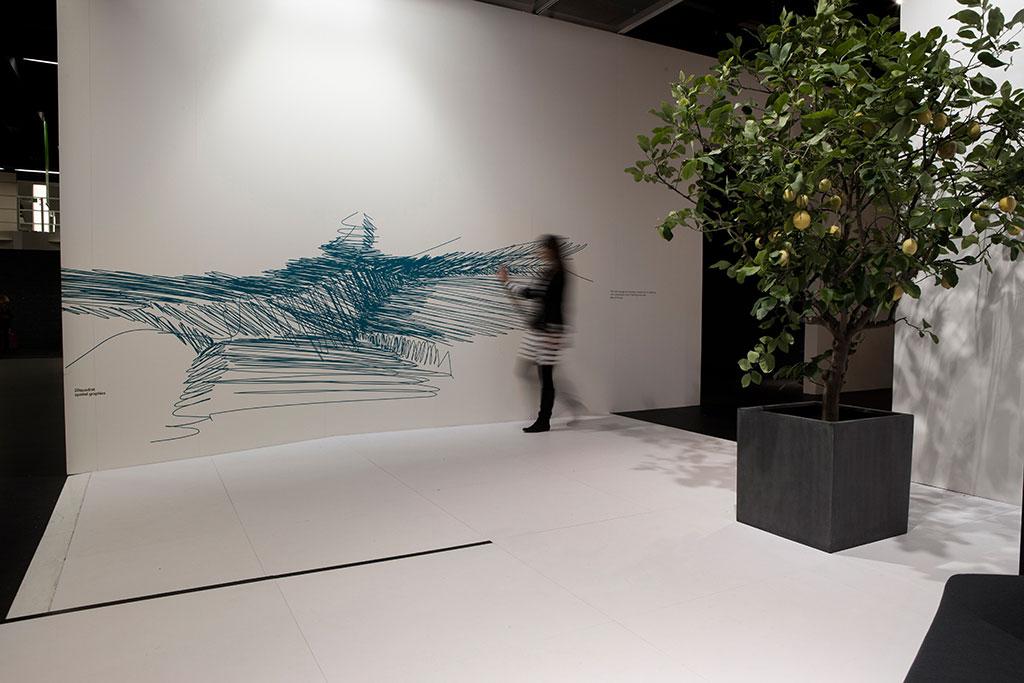 zeichnung trägt abstrakte erinnerungen ausgewählter walter knoll-möbel in sich