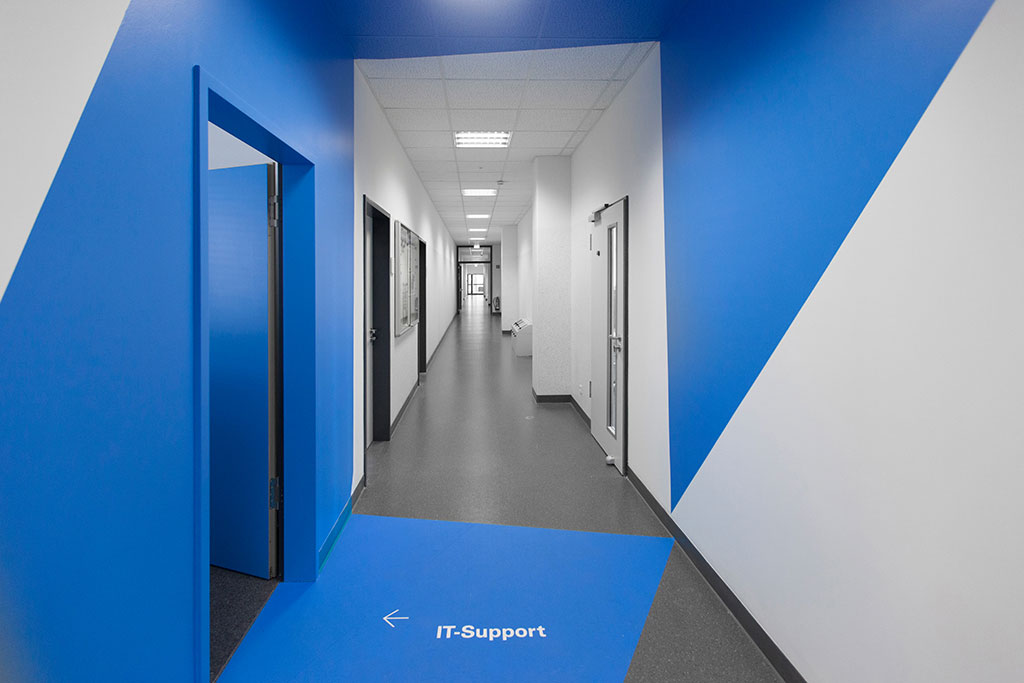 farbraum blau architektur