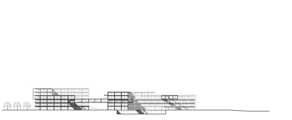die ansicht zeigt den inneren teil des geäudekomplex aus oestlicher perspektive